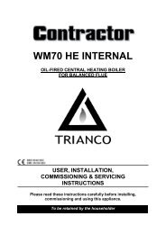 Trianco Contractor HE Wall Mounted Internal Oil Boilers ... - BHL.co.uk