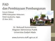 PAD dan Pembiayaan Pembangunan.pdf - Kumoro.staff.ugm.ac.id