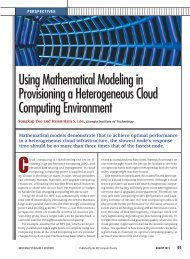Using Mathematical Modeling in Provisioning a Heterogeneous ...