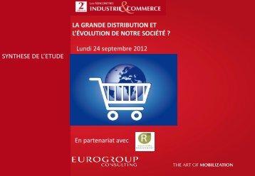 La grande distribution et l'évolution de notre société - Eurogroup ...