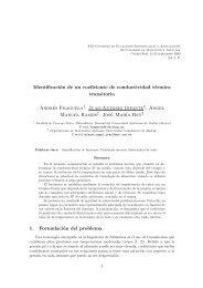 Identificación de un coeficiente de conductividad térmica transitoria ...