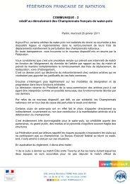 Télécharger ici - Fédération Française de Natation