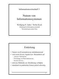 Nutzen von Informationssystemen - Wirtschaftsuniversität Wien