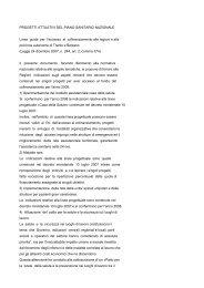progetti attuativi del piano sanitario nazionale - Sicurweb