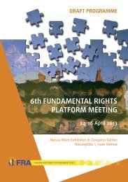 6th FUNDAMENTAL RIGHTS PLATFORM MEETING