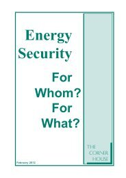 Energy Security For Whom? - The Corner House