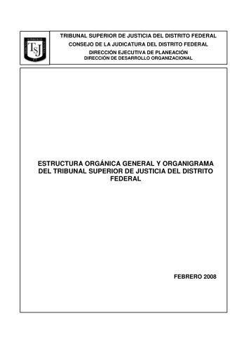 estructura orgánica general y organigrama del tribunal superior de ...