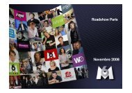 Roadshow Paris Novembre 2008 - Groupe M6