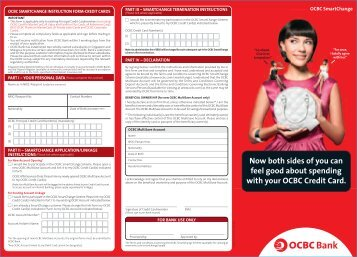 Download application form - OCBC Bank