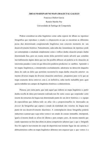 Áreas marxinais no mapa dialectal galego - Páxinas persoais - USC ...