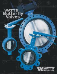 WATTS Butterfly Valves - Clean My Water