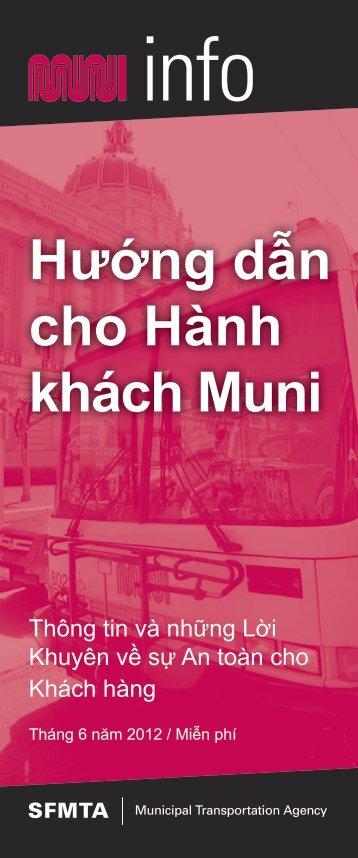 Hướng dẫn cho Hành khách Muni - San Francisco Municipal ...