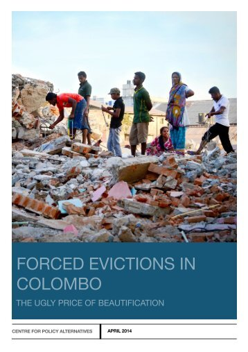 Colombo Evictions Report - April 2014