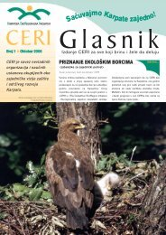 Sačuvajmo Karpate zajedno! - The Carpathian EcoRegion Initiative