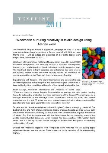 Woolmark: nurturing creativity in textile design using ... - Texprint