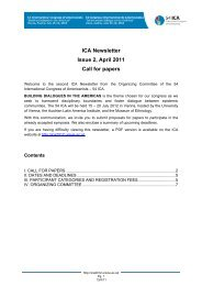 ICA Newsletter Issue 2, April 2011 Call for papers - Building ...