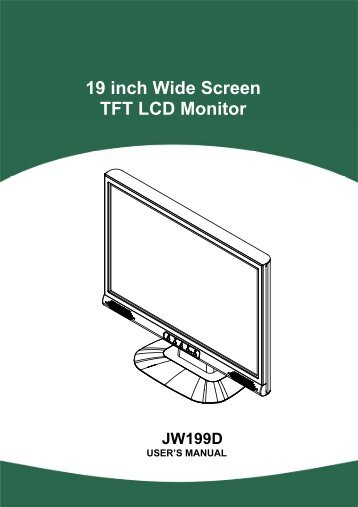 19 inch Wide Screen TFT LCD Monitor