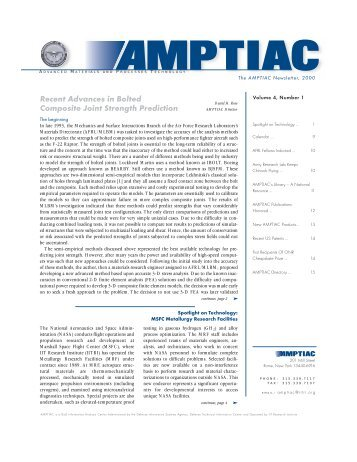 AMPTIAC - Advanced Materials, Manufacturing and Testing ...