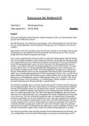Protokollauszug Schulausschuss 04.03.2008 (91 ... - Stadt Paderborn