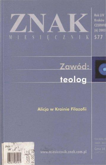 Nr 577, czerwiec 2003 - Znak