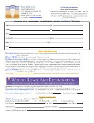 WHS Membership Application 2 - Wound Healing Society