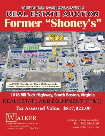 REAL ESTATE AUCTION - Walker Commercial Services, Inc.