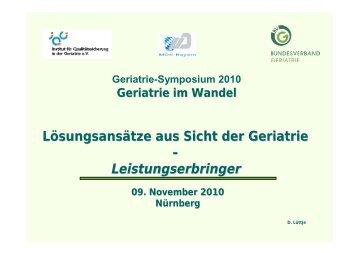 Leistungserbringer: Hon.-Prof. Dr. Dieter Lüttje - MDK Bayern