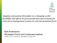 Adaptation of practical silviculture in a changing world