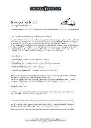 Pfefferkontor Newsletter No5