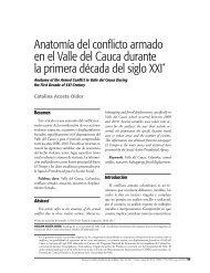 Anatomía del conflicto armado en el Valle del Cauca durante la ...