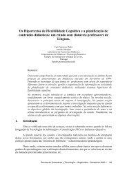 Os Hipertextos de Flexibilidade Cognitiva e a planificação de ...