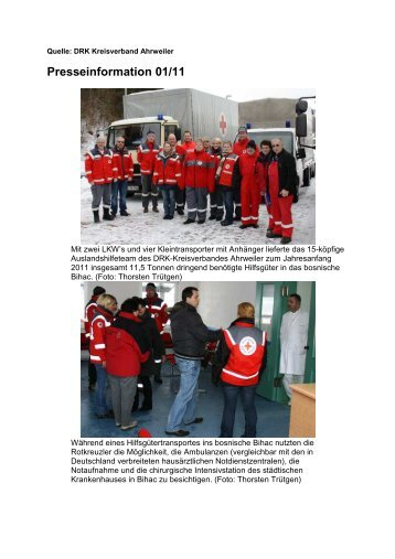 Hilfstransport Bosnien Januar 2011 (PDF-Datei 131 KB)