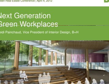Next Generation Green Workplaces Green Workplaces Workplaces ...