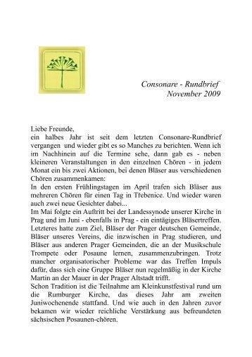 Consonare - Rundbrief November 2009 - Sächsische ...