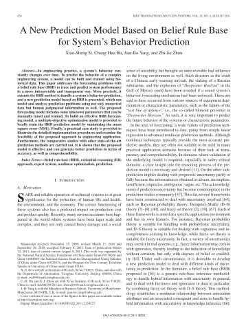 A New Prediction Model Based on Belief Rule Base for System's ...