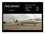 Learjet 60 s/n 241 Year (EIS): 2002 TTAF: 6090 ... - Bombardier