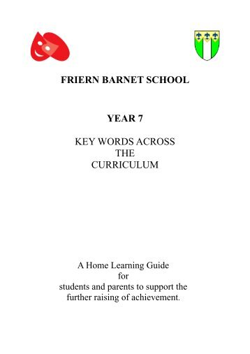 Key Words Booklet Yr 7 - Friern Barnet School