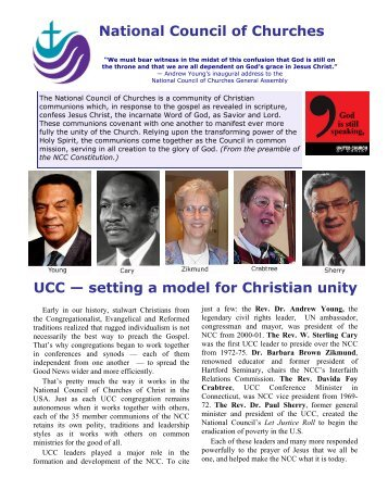 setting a model for Christian unity - National Council of Churches