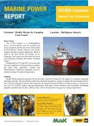 CCG Limnos Marine Power Profile - Toromont CAT