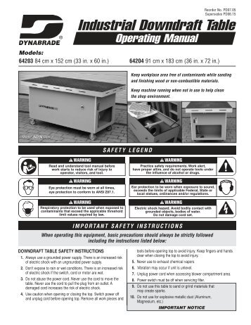 Industrial Downdraft Table - Dynabrade Inc.