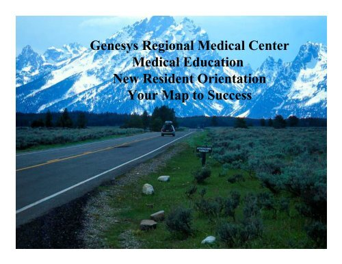 Map to Success presentation - Genesys Regional Medical Center