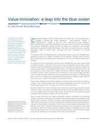 Value Innovation: A Leap Into The Blue ocean – Drmanage.com