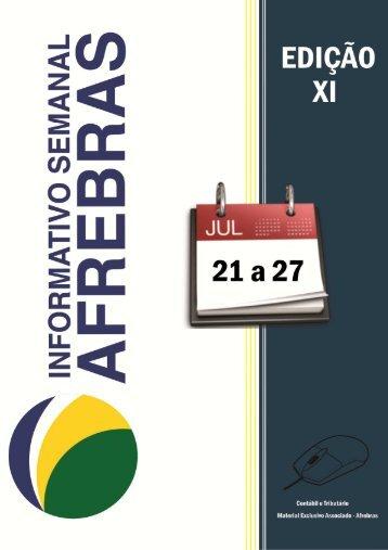 Informativo Semanal Afrebras 2012 - 21.07 a 27.07