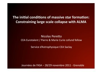 Constraining large scale collapse with ALMA - Graal