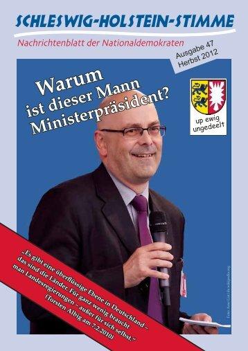 ist dieser Mann Ministerpräsident? - Schleswig-Holstein-Stimme