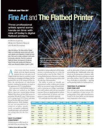 Fine ArtandThe Flatbed Printer - Schminke, Karin