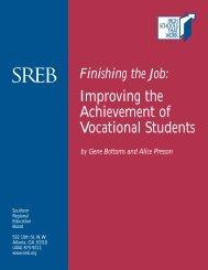 Finishing the Job - Southern Regional Education Board