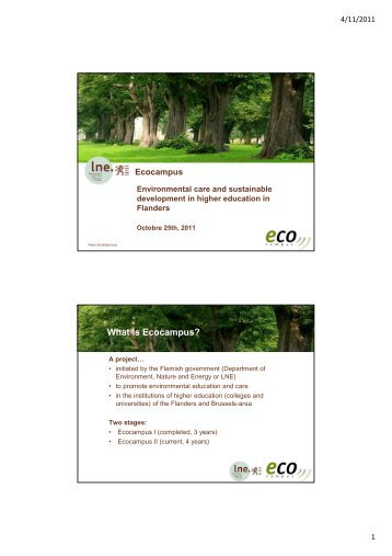 What is Ecocampus? - HUBRUSSEL.net