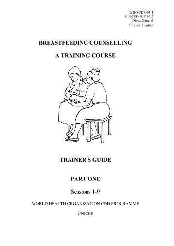 BF counselling - trainers.. - World Health Organization
