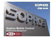 Sophos Mobile Control - ISSS